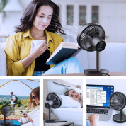 Voxon HDF02608BA01 USB Desk Fan - настолен USB вентилатор (черен) 5