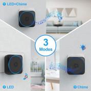 TeckNet HDB01617BU01 Wireless Plug-In DoorBell - безжичен стилен звънец за входна врата (черен)  2