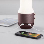 Lexon LA106MX Terrace Lamp, Bluetooth Speaker And Power Bank - дизайнерска LED лампа с 6W спийкър и 4000 mAh външна батерия (кафяв) 1