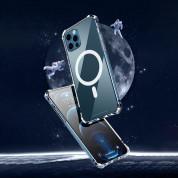 Hurtel Clear Magnetic Case MagSafe - силиконов (TPU) калъф с MagSafe за iPhone 12 mini (прозрачен)  14