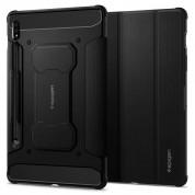 Spigen Rugged Armor Pro Case - удароустойчив хибриден калъф и поставка за Samsung Galaxy Tab S7 (2020) (черен)