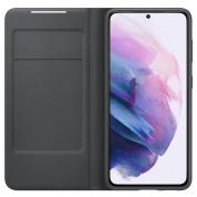Samsung LED View Cover EF-NG996PB - оригинален калъф през който виждате информация от дисплея за Samsung Galaxy S21 Plus (черен) 2
