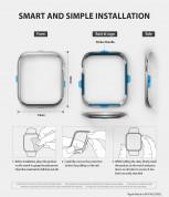 Ringke Bezel Styling - стоманена рамка с висока степен на защита за Apple Watch 40мм (сребрист-мат) 4