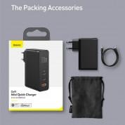 Baseus GaN 2 Pro Charger 120W (CCGAN-J01) - захранване за ел. мрежа за лаптопи, смартфони и таблети с USB и 2xUSB-C изходи с технология за бързо зареждане и USB-C кабел (черен) 6