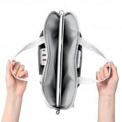 Baseus Basics Series 13 Shoulder Computer Bag (LBJN-G02) - стилна чанта с презрамка за Macbook Pro 13, Air 13 и лаптопи до 13 инча (бял) 1