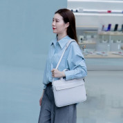 Baseus Basics Series 16 Shoulder Computer Bag (LBJN-H02) - стилна раница за Macbook Pro 16, MacBook Pro 15 и лаптопи до 16 инча (бял) 6