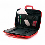 Bombata Mediobombata Classic - кожена чанта с презрамка за MacBook Pro 16, Pro 15 и лаптопи до 16 инча (тъмносин) 1