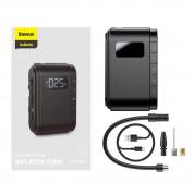 Baseus Dynamic Eye Inflator Pump (CRCQB03-01) - компресор за автомобилни гуми с вградена 4000 mAh батерия (черен) 15