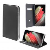 4smarts Flip Case URBAN Lite - кожен калъф с поставка и отделение за кр. карта за Samsung Galaxy S21 Ultra (черен)