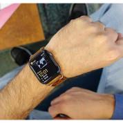 Meridio Care Leather Band - уникална ръчно изработена кожена (естествена кожа) каишка за Apple Watch 42мм, 44мм (кафяв) 7