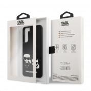 Karl Lagerfeld PU Karl & Choupette Case - дизайнерски кожен кейс за Samsung Galaxy S21 (черен)  5