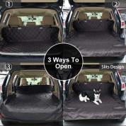 Zellar Car Boot Liner Medium - универсално защитно покривало (за домашни любимци) за багажник на автомобил (132 x 208 см) (черен) 1