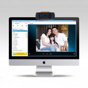 Webcam B7-C2 720p - 720p домашна уеб видеокамера с микрофон (черен) 3