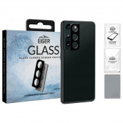 Eiger Glass 2.5D Camera Lens Protector - предпазен стъклен протектор за камерата на Samsung Galaxy S21 Plus (черен)