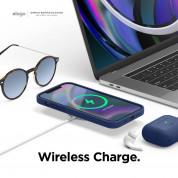 Elago MagSafe Soft Silicone Case - силиконов (TPU) калъф с вграден магнитен конектор (MagSafe) за iPhone 12, iPhone 12 Pro (тъмносин) 6