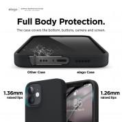Elago MagSafe Soft Silicone Case - силиконов (TPU) калъф с вграден магнитен конектор (MagSafe) за iPhone 12 Pro Max (черен) 5