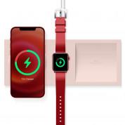 Elago Charging Tray Duo for MagSafe & Apple Watch Charger - силиконова поставка за зареждане на iPhone и Apple Watch чрез поставяне на Apple MagSafe Charger и Apple Watch кабел (розов)