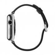 Apple Classic Buckle Band - оригинална кожена каишка за Apple Watch 38мм, 40мм (черен) 1