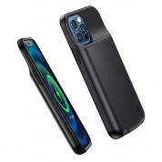 USAMS CD156 Battery Case 2500mAh - удароустойчив кейс с вградена батерия за iPhone 12 Mini (черен) 3
