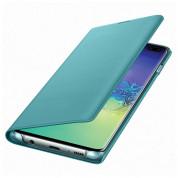 Samsung LED View Cover EF-NG975PG - оригинален калъф, през който виждате информация от дисплея за Samsung Galaxy S10 Plus (зелен) (разопакован продукт) 1
