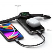Satechi Quatro Wireless Power Bank 10000mAh - безжична външна батерия за мобилни устройства, Apple AirPods и Apple Watch (черен) 4
