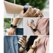 Ringke Leather One Classic Band 22 mm - кожена (естествена кожа) каишка за Galaxy Watch, Huawei Watch, Xiaomi, Garmin и други (22 мм) (черен) 8