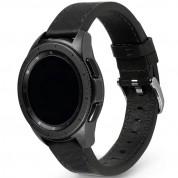 Ringke Leather One Classic Band 22 mm - кожена (естествена кожа) каишка за Galaxy Watch, Huawei Watch, Xiaomi, Garmin и други (22 мм) (черен)