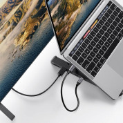 Ugreen Laptop Stand Docking Station USB-C Hub - сгъваема поставка с вграден USB-C хъб за MacBook и лаптопи (черен) 3