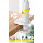 Baseus Otaku Life Rotary Holder (SULR-B0S) - универсална поставка за бюро и плоскости за мобилни устройства с големина на дисплея от 4.7 до 12.9 инча (бял) 15