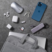 Ugreen Laptop Bag 13 - елегантна чанта за MacBook Pro 13 и лаптопи до 13 инча (сив) 2