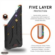 Urban Armor Gear Monarch Case - удароустойчив хибриден кейс за Samsung Galaxy S21 Ultra (черен-карбон) 5