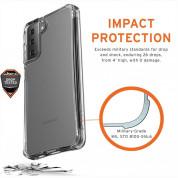 Urban Armor Gear Plyo Case - удароустойчив хибриден кейс за Samsung Galaxy S21 Plus (прозрачен) 1