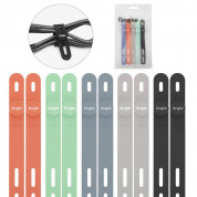 Ringke Set 10 x Silicone Strap Cable Organizer - 10 броя силиконови органайзери за кабели (в различни цветове)