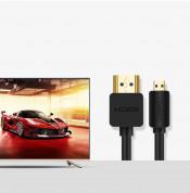 Ugreen HDMI to micro HDMI cable 2.0v 4K 60Hz - HDMI към microHDMI кабел (150 см) (черен) 5