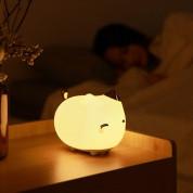 Baseus Silicone Night LED Light Kitty (DGAM-A02) - силиконова детска нощна лампа с три вида светлина (бял) 7