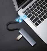 Ugreen USB Hub 4-port CM219 - 4-портов USB-A хъб и microUSB вход за компютри и лаптопи (тъмносив) 11