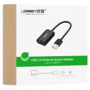 Ugreen USB External Sound Audio Card 15 см - външна саунд карта с USB и 3.5 мм изходи за компютри (15 см) (черен) 9