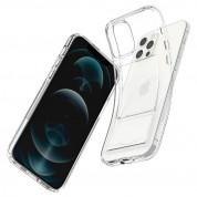 Spigen Crystal Slot Case - силиконов (TPU) кейс с отделение за кр. карти за iPhone 12 Pro Max (прозрачен) 6