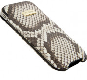 FitCase Pouch Snake Skin - genuine snake leather case for iPhone 4/4S 6