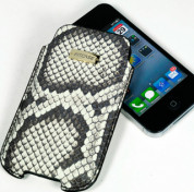 FitCase Pouch Snake Skin - genuine snake leather case for iPhone 4/4S 1