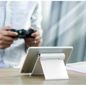 Ugreen Multi-Angle Adjustable Portable Stand - преносима сгъваема поставка за таблети и смартфони (син) 8