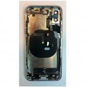Apple iPhone XS Backcover Full Assembly - оригинален резервен заден капак заедно с Lightning порт, безжично зареждане и бутони (бял) 1