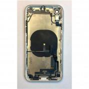 Apple iPhone XR Backcover Full Assembly - оригинален резервен заден капак заедно с Lightning порт, безжично зареждане и бутони (бял) 1