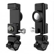 Adjustable Phone Bike Mount Holder with Compass - универсална поставка за колело с компас за мобилни телефони (черен) 1