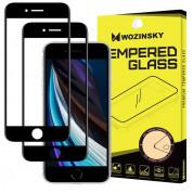 Wozinsky 2x Case Friendly Tempered Glass - 2 броя калени стъклени защитни покрития за iPhone SE (2020), iPhone 8, iPhone 7, iPhone 6S, iPhone 6 (черен-прозрачен) (2 броя)