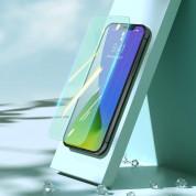 Baseus Full Coverage Green Tempered Glass Film with Anti Blue Light Filter (SGAPIPH67N-LP02) - стъклено защитно покритие за целия дисплей на  iPhone 12 Pro Max (прозрачен) (2 броя) 5