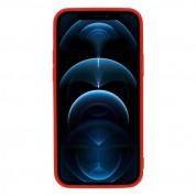 Tel Protect MagSilicone Case - силиконов (TPU) калъф с вграден магнитен конектор (MagSafe) за iPhone 12 mini (червен) 2