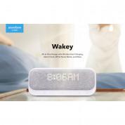 Anker SoundCore Wakey Bluetooth Speaker, FM, Clock, Qi 10W Charger - безжичен портативен спийкър с FM радио, часовник с аларма и поставка за безжично зареждане (бял) 10