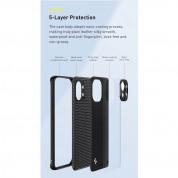 Baseus Alloy Leather Protective Case (WIXM11-01) - удароустойчив хибриден кейс за Xiaomi Mi 11 (черен) 3