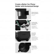 Baseus Tank Gravity Car Mount (SUYL-TK01) - поставка за таблото на кола  за смартфони с дисплей от 4.7 до 6 инча (черен) 4